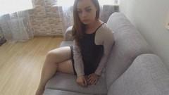 Девушка за 500 фунтов сосёт хуй на порно кастинге